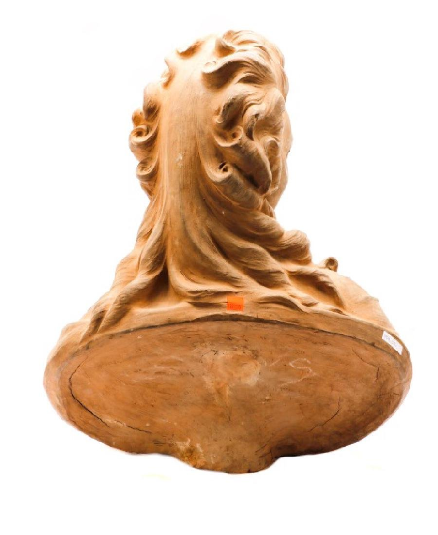 Large Terra Cotta Bust of Madame Pompadore - 8
