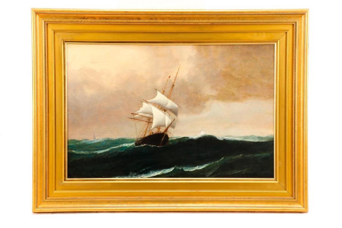 Edward Hoyer, Marine Oil Painting, Signed