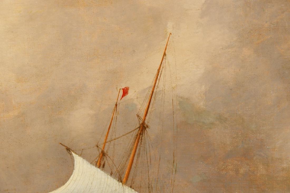 Edward Hoyer, Marine Oil Painting, Signed - 2