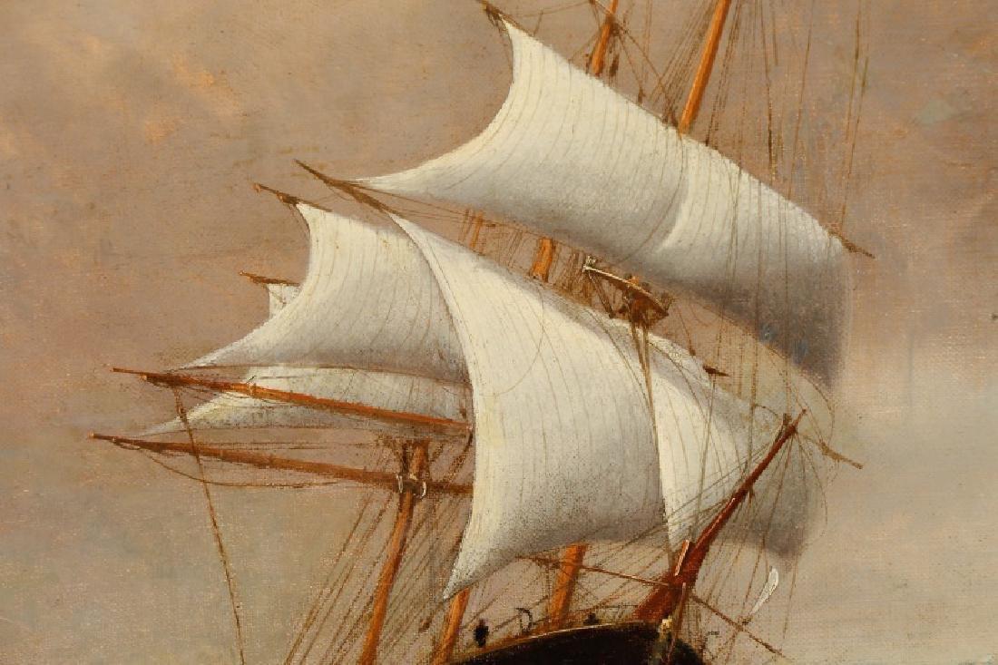 Edward Hoyer, Marine Oil Painting, Signed - 3