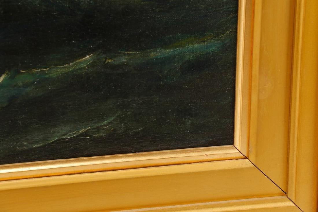 Edward Hoyer, Marine Oil Painting, Signed - 8