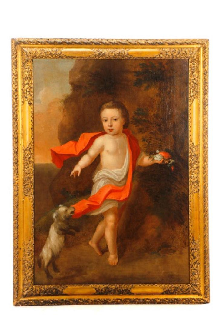 """British School, """"George III as a Boy"""", O/C"""