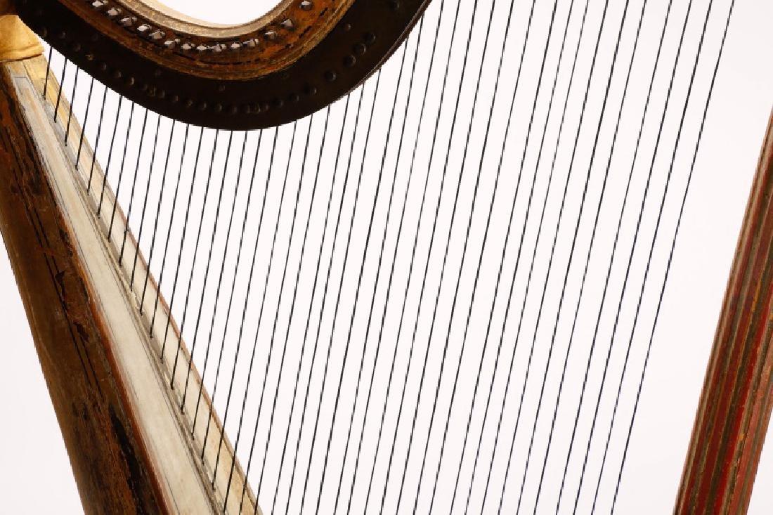 Fine Irish Regency Classical Harp by John Egan - 3