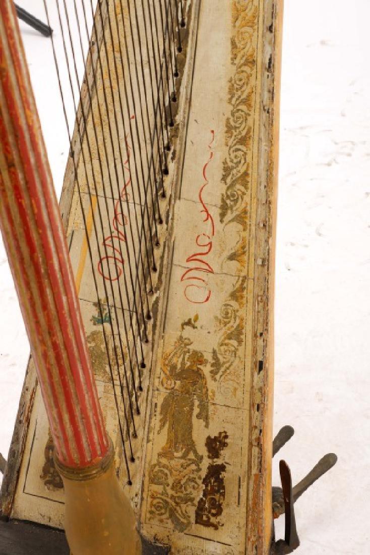 Fine Irish Regency Classical Harp by John Egan - 5