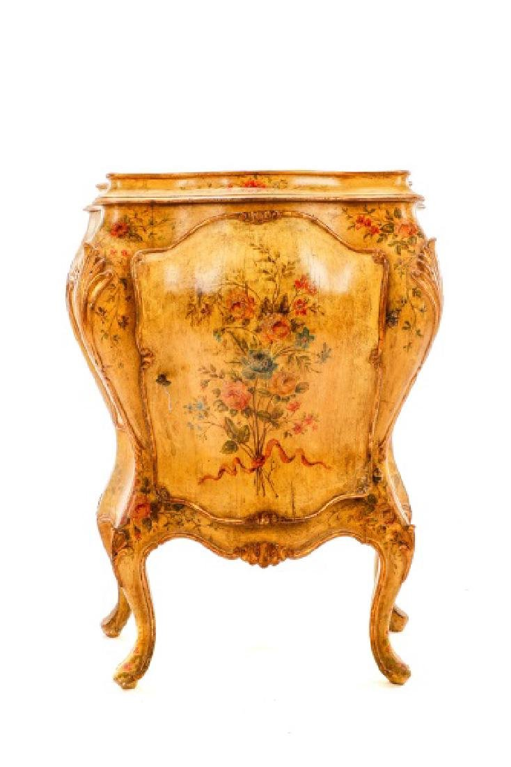 Venetian Polychrome Painted Petite Commode, 19th C