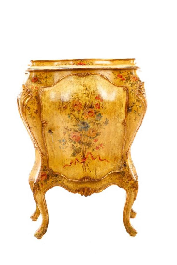 Venetian Polychrome Painted Petite Commode, 19th C - 2
