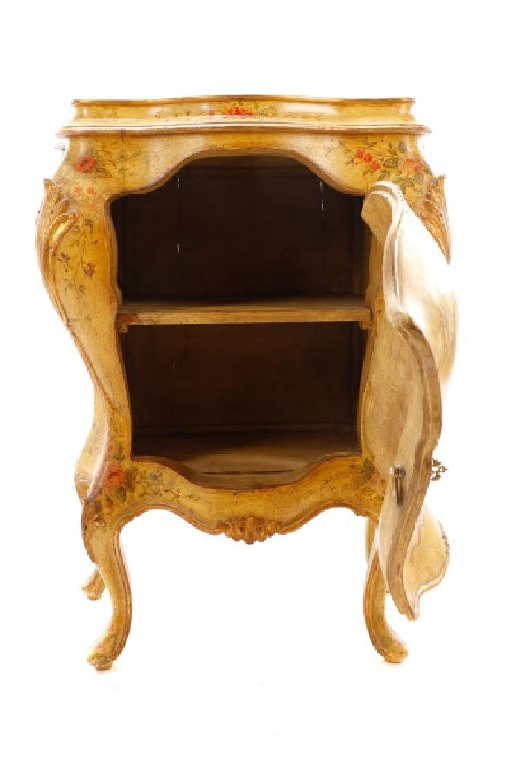 Venetian Polychrome Painted Petite Commode, 19th C - 4