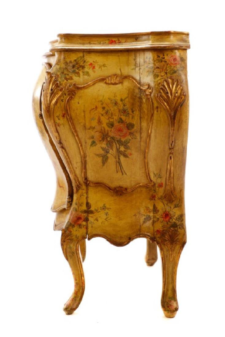 Venetian Polychrome Painted Petite Commode, 19th C - 7