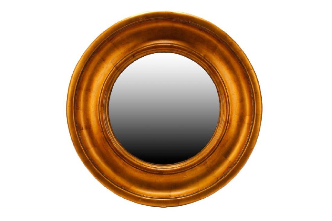 Pair, Uttermost Large Round Giltwood Mirrors