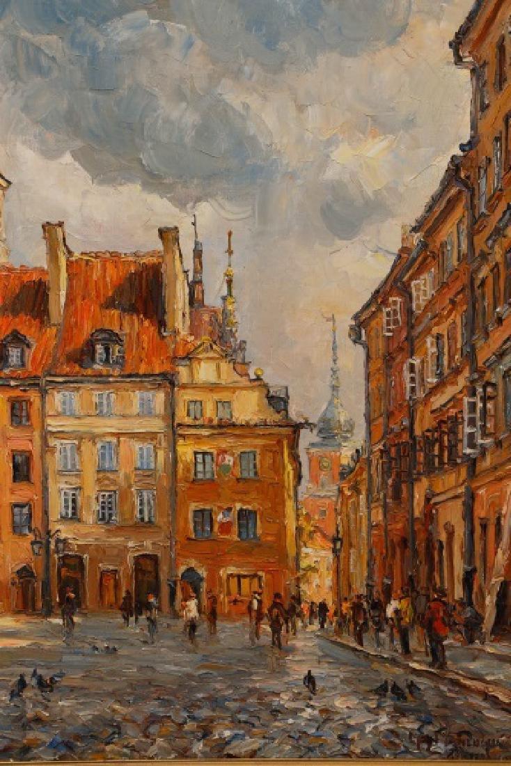 """Jan Pawlowski, """"Old Town Square, June 1980"""", O/C - 2"""