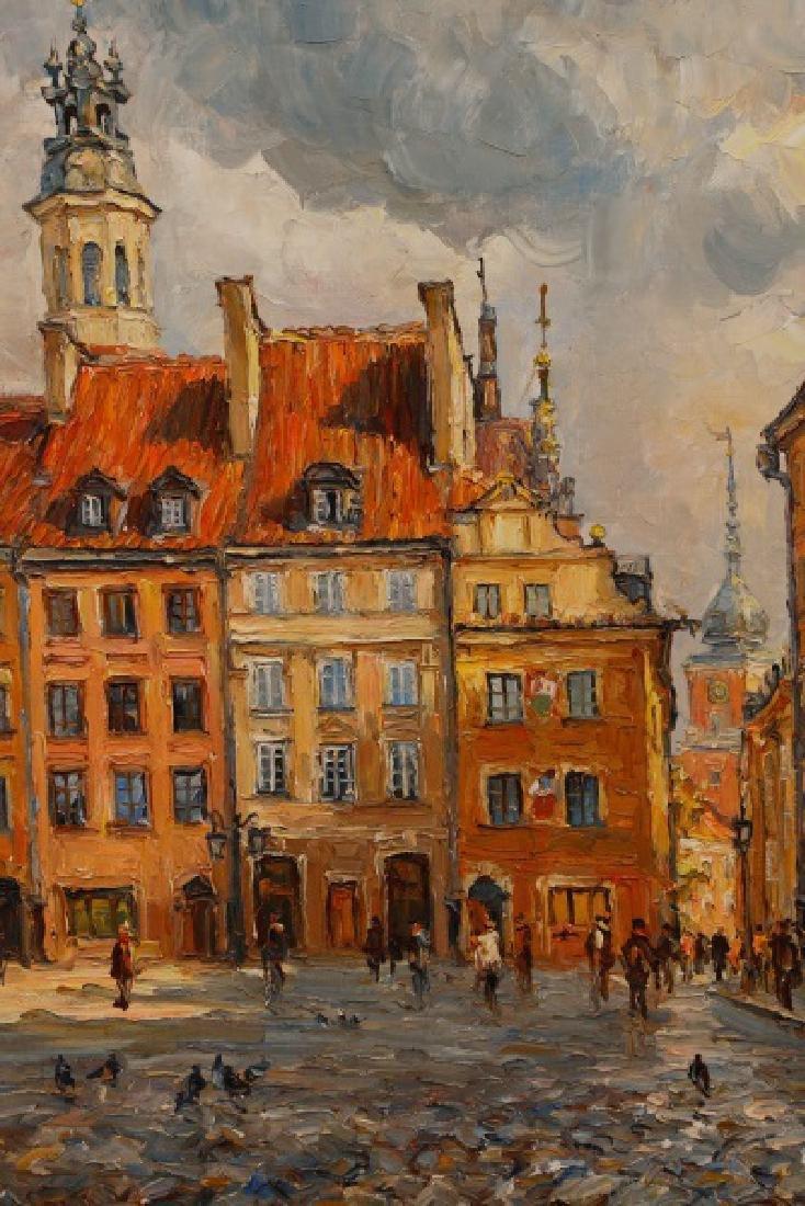 """Jan Pawlowski, """"Old Town Square, June 1980"""", O/C - 3"""