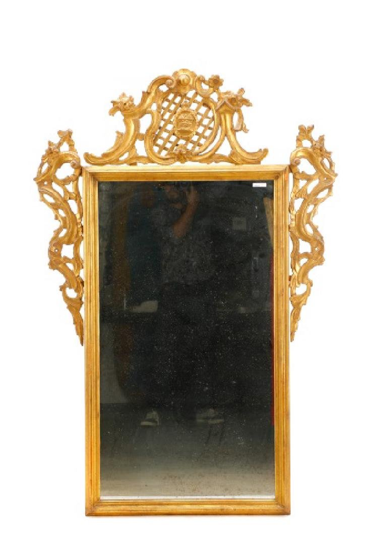 Continental Giltwood Rococo Style Mirror, 19 C. - 10