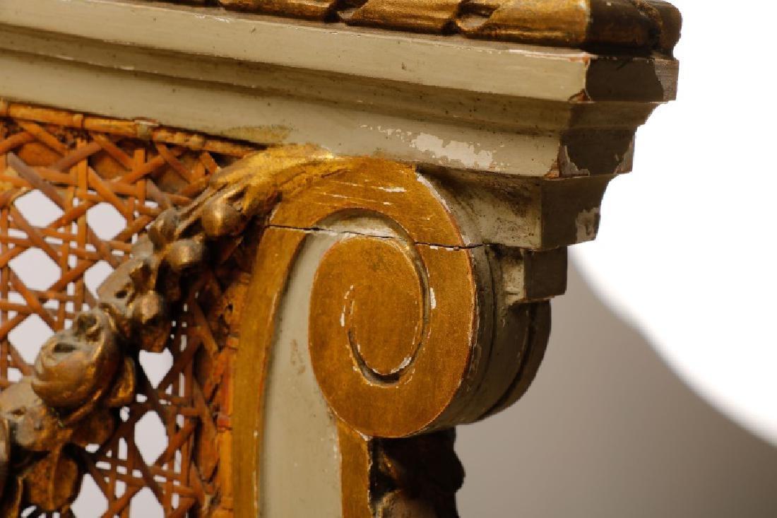 Louis XVI Style Mirrored Marble Top Vanity & Chair - 10