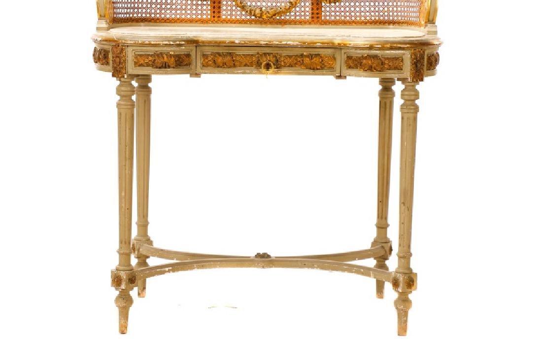 Louis XVI Style Mirrored Marble Top Vanity & Chair - 3