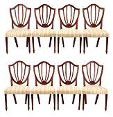 Set of 8 Baker Hepplewhite Style Dining Chairs