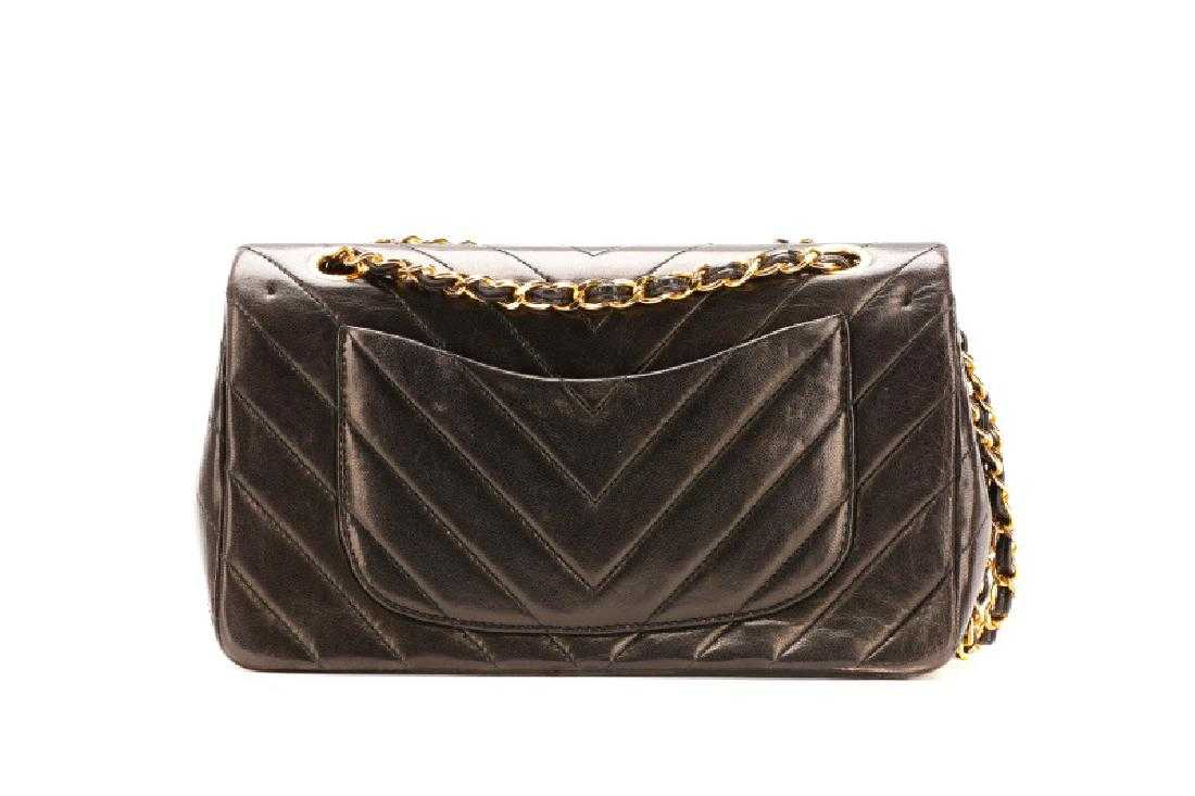 3b63d52a12f2 Vintage Chanel Chevron Medium Double Flap Bag