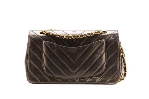 Vintage Chanel Chevron Medium Double Flap Bag c198e562e