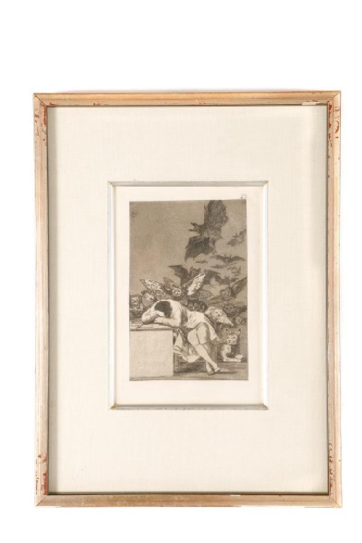 Goya, Sleep of Reason Produces Monsters, Etching