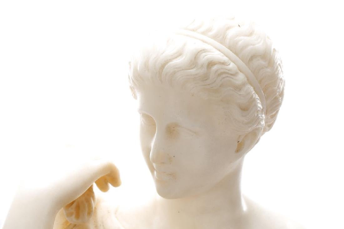 Continental Carved Marble Figural Sculpture - 3
