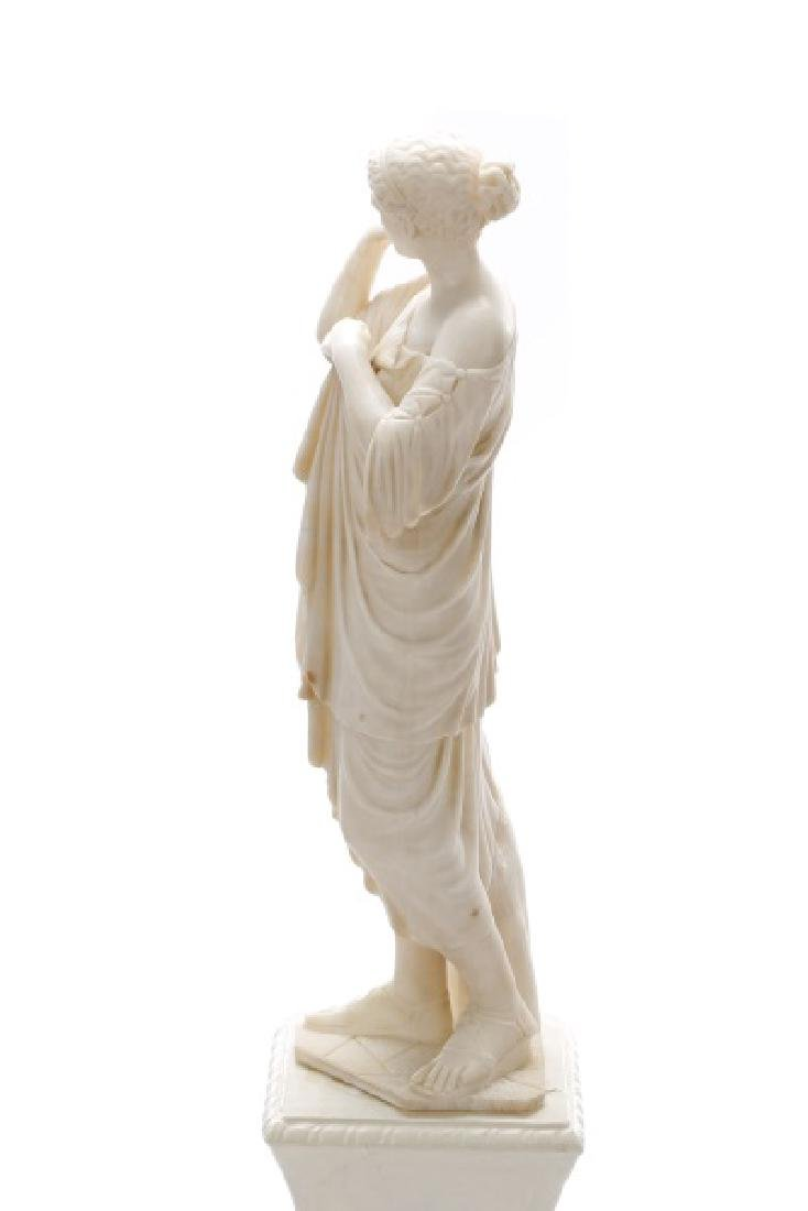 Continental Carved Marble Figural Sculpture - 5