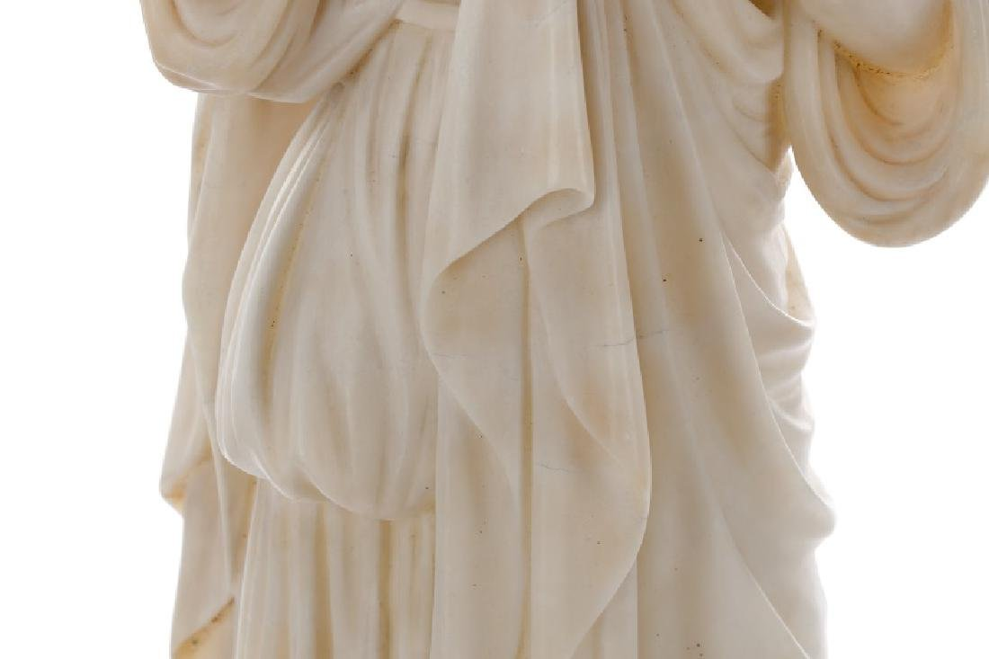 Continental Carved Marble Figural Sculpture - 6