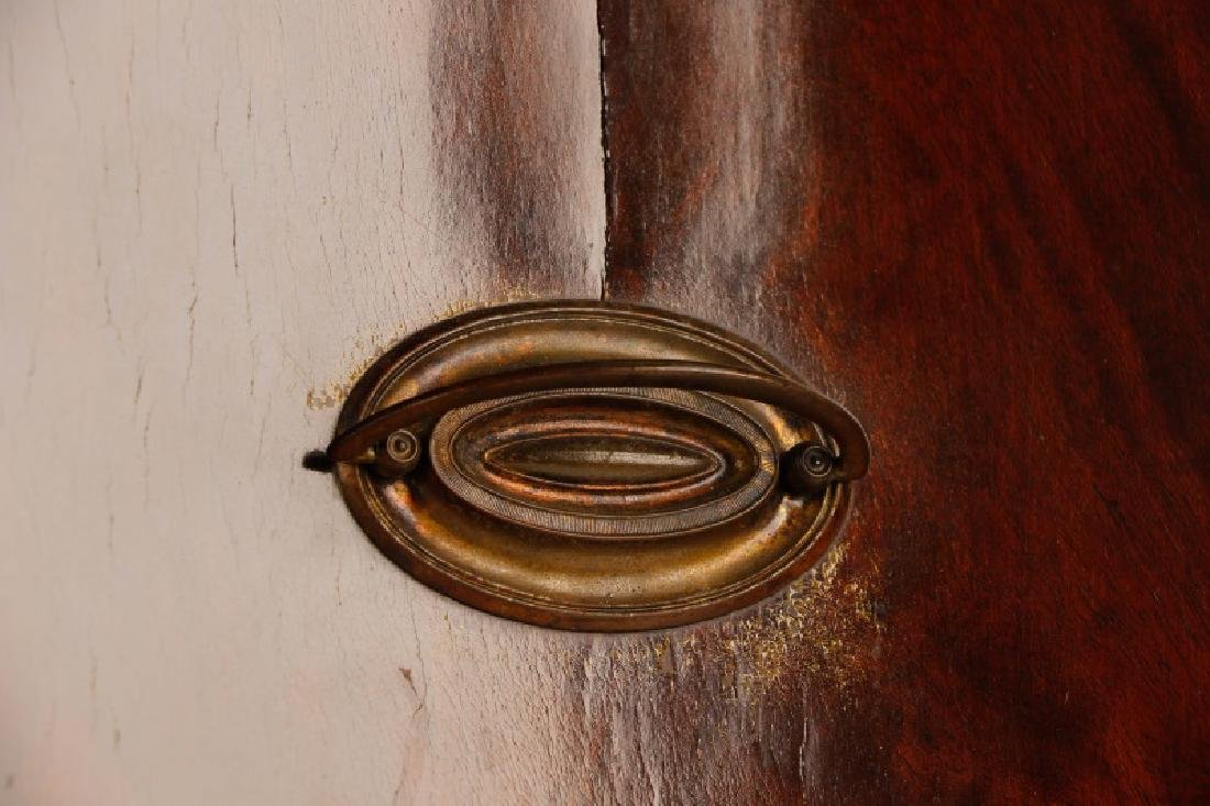 Sheraton Style Mahogany Serpentine Sideboard - 3