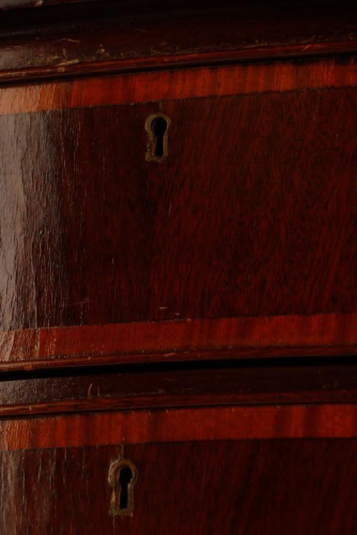 Sheraton Style Mahogany Serpentine Sideboard - 5