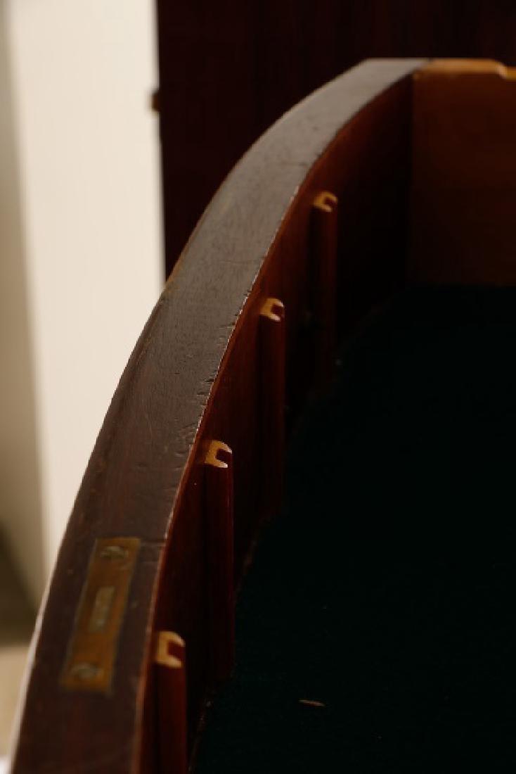 Sheraton Style Mahogany Serpentine Sideboard - 6