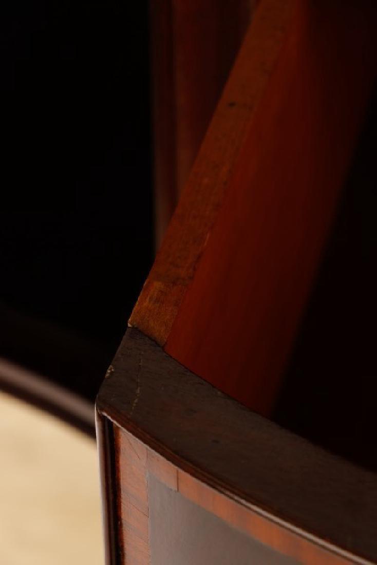 Sheraton Style Mahogany Serpentine Sideboard - 7