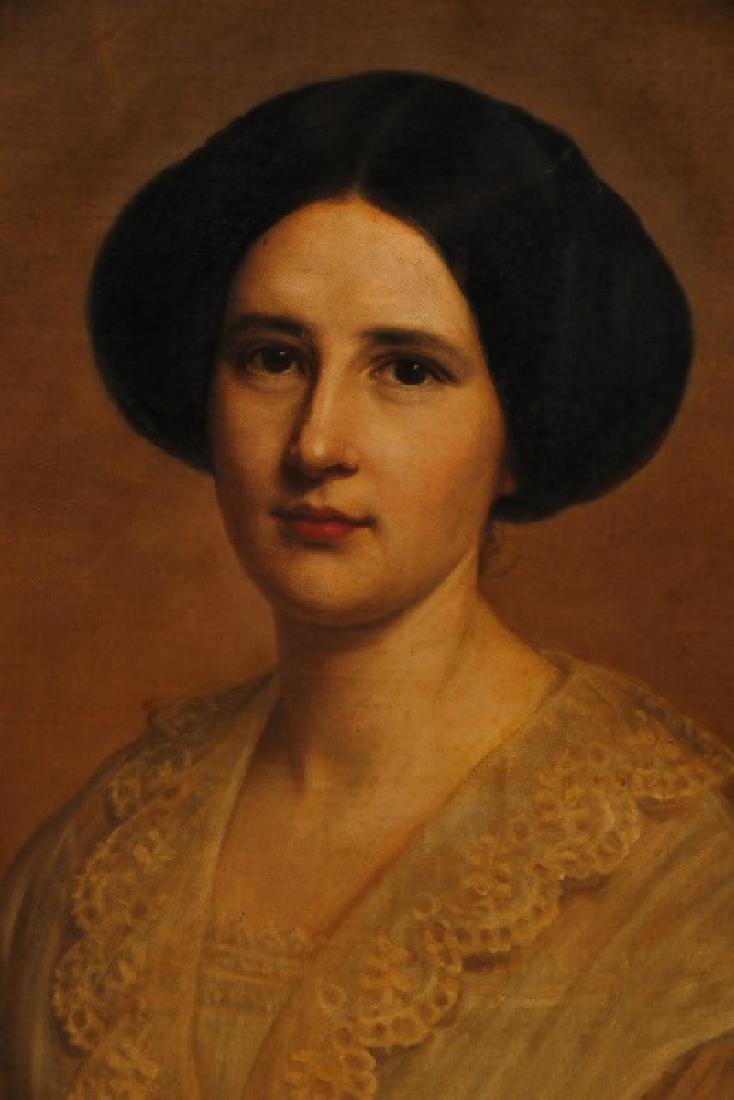 "American School, ""Portrait of a Woman"", O/C - 2"