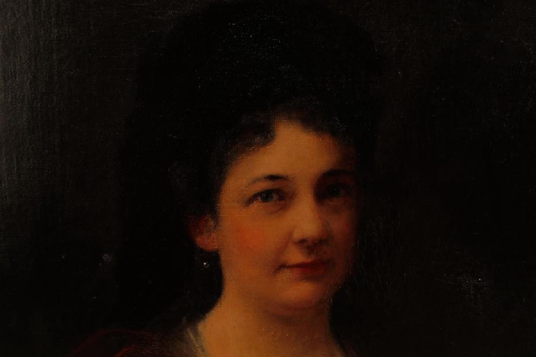 """Continental, """"Portrait of a Woman in Red"""", O/C - 6"""