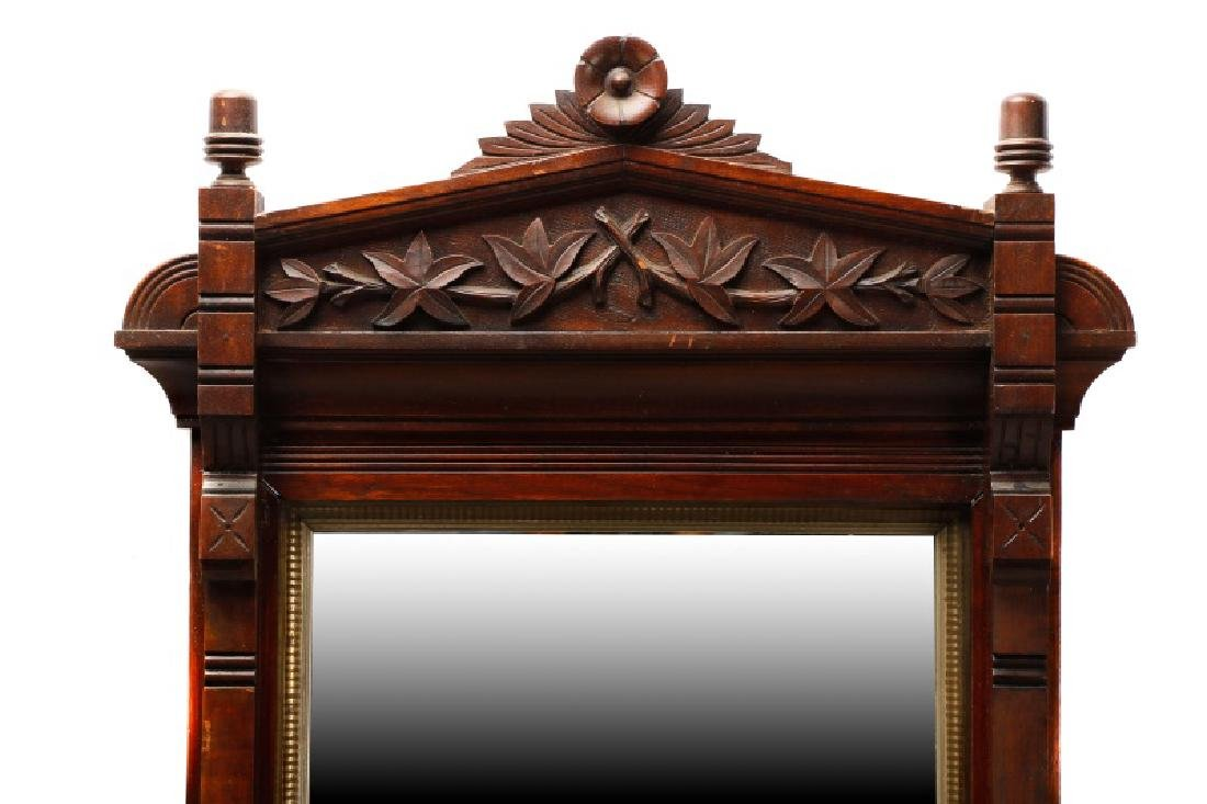 Stained Walnut Eastlake Style Mirror - 2