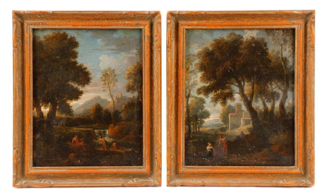 "Style of Magnasco, ""Arcadia"", Oil on Board"