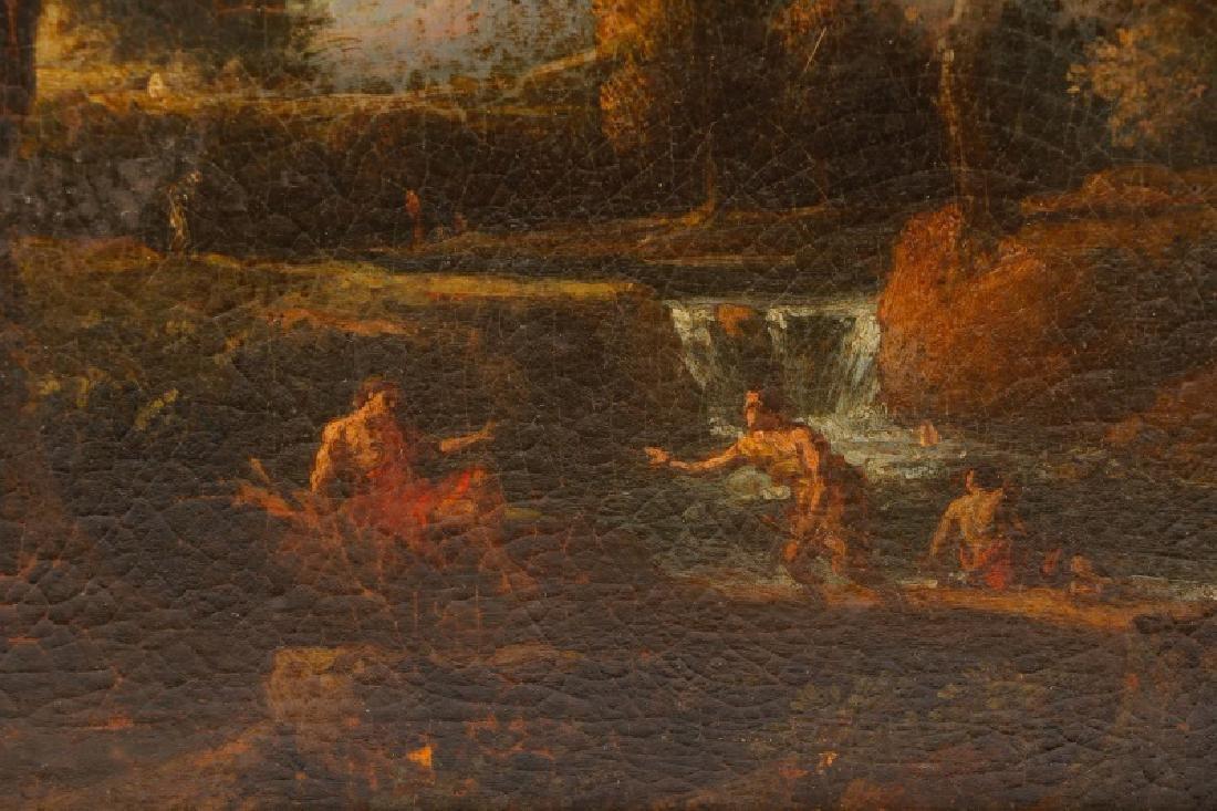 "Style of Magnasco, ""Arcadia"", Oil on Board - 3"
