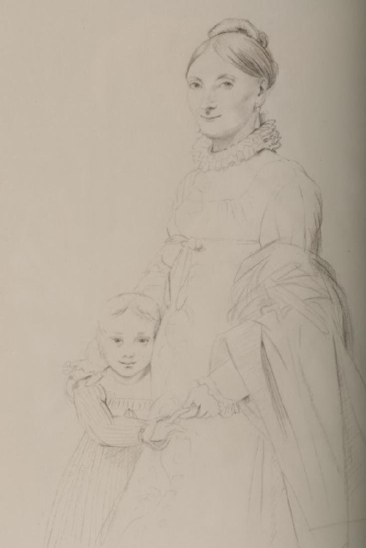 """Rose Hafley, """"Study from Ingres"""", Signed Drawing - 2"""