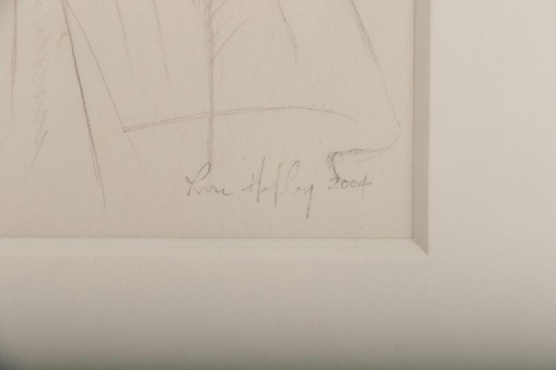 """Rose Hafley, """"Study from Ingres"""", Signed Drawing - 3"""