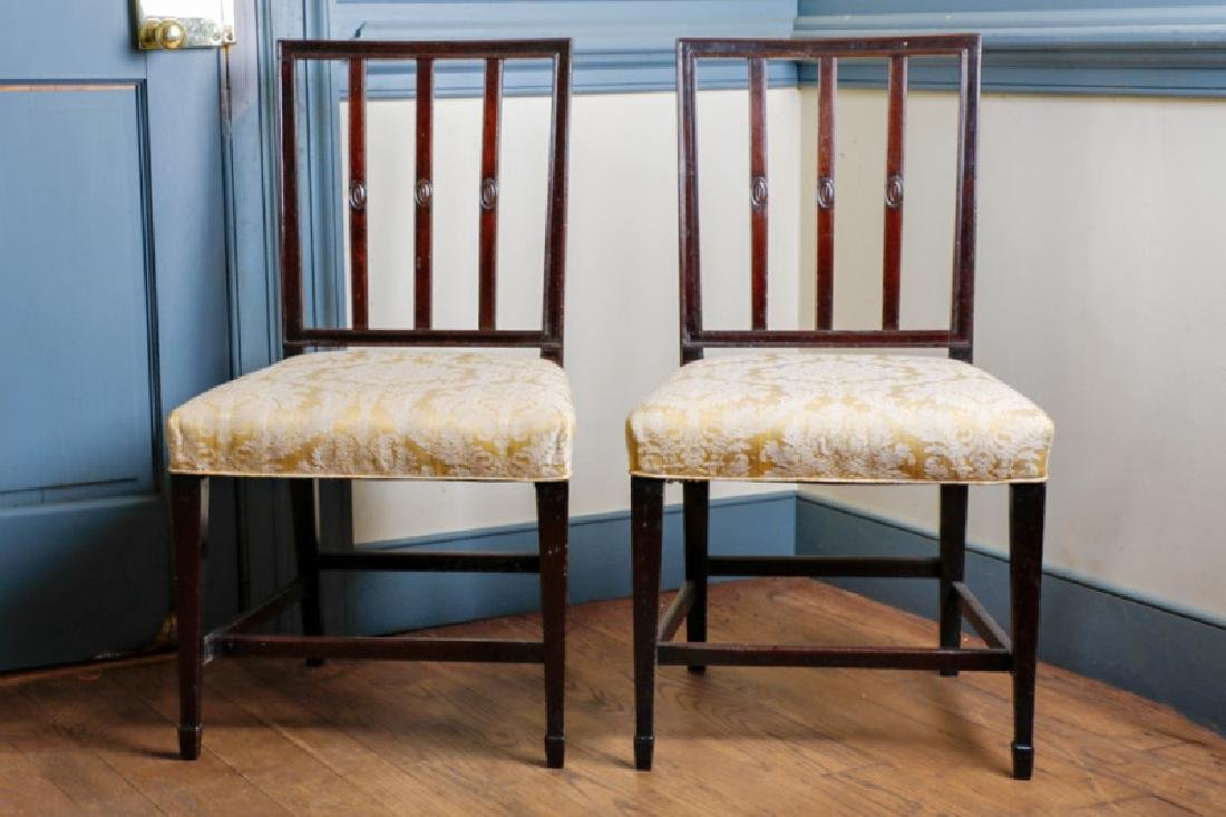 Pair, Late 18th C. New England Federal Side Chairs
