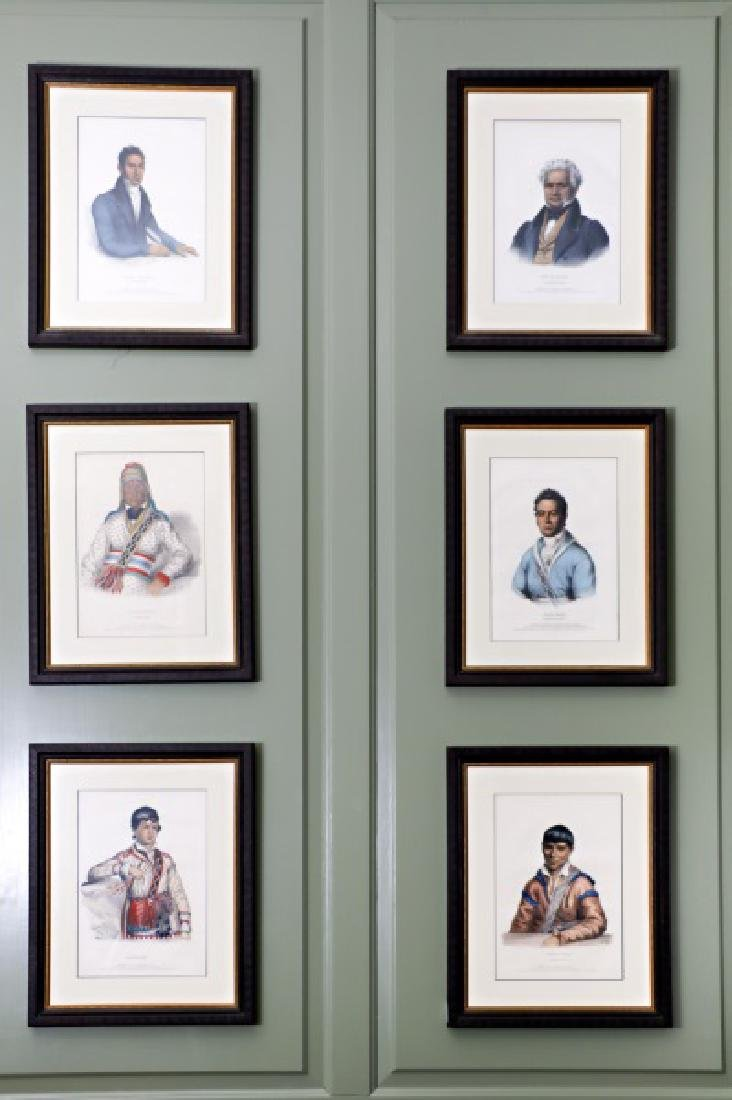 Group of Six Native American Portrait Lithographs