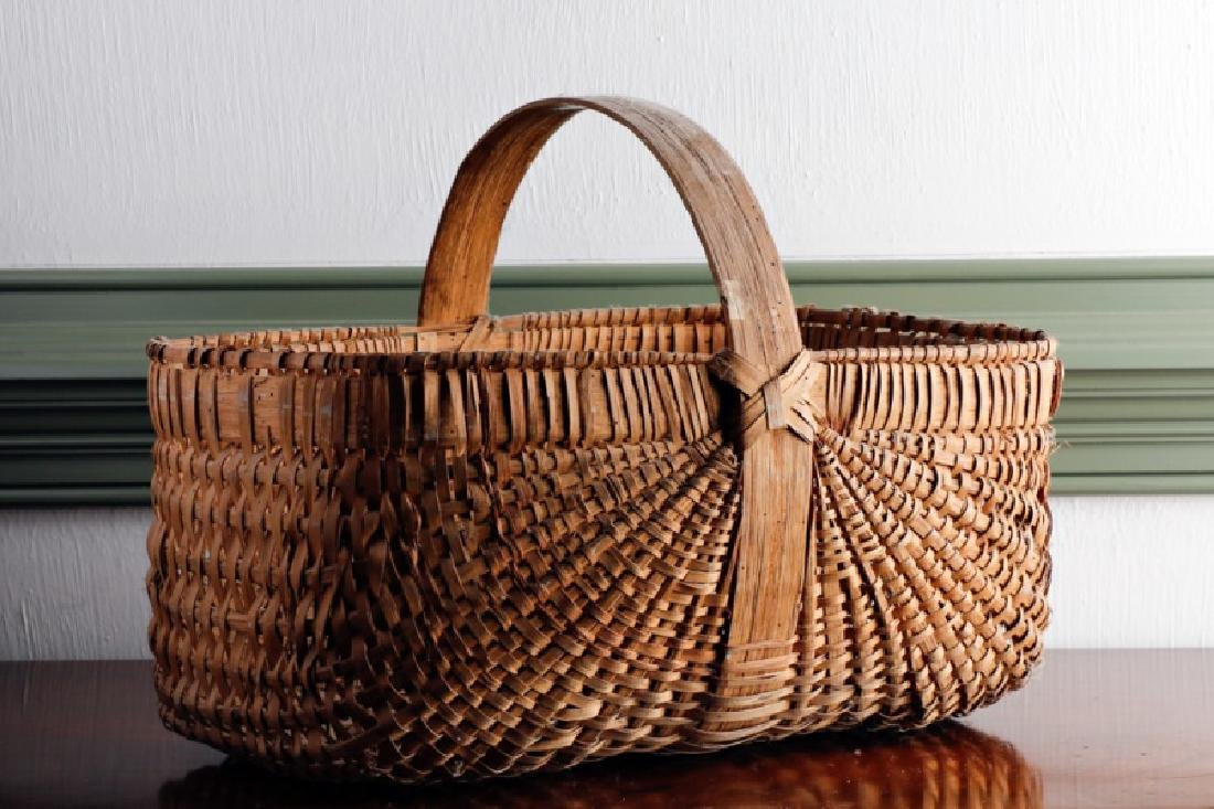 Nantucket Style Hand Woven Squared Basket