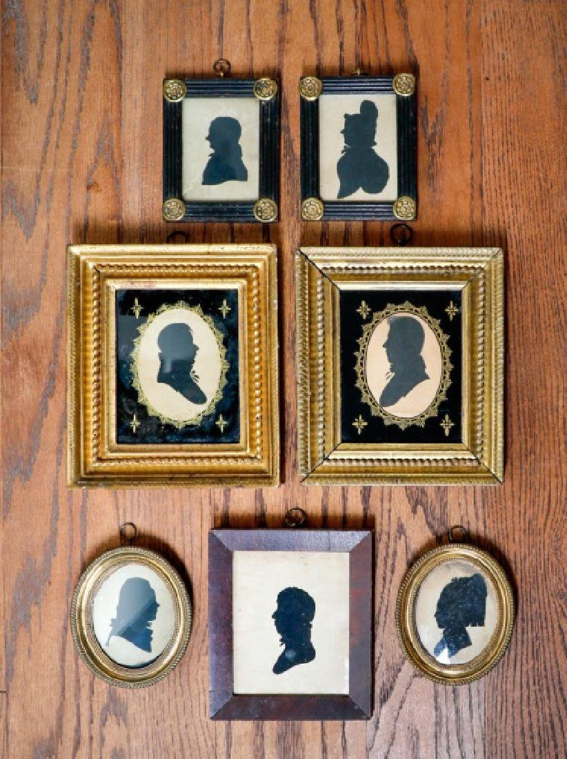 Group of Seven Framed Silhouettes