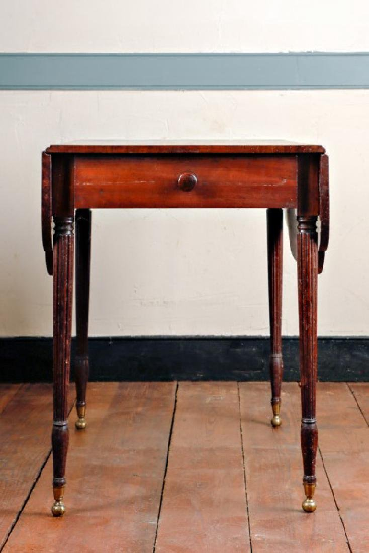 New England Federal Pembroke Table, 19th C.