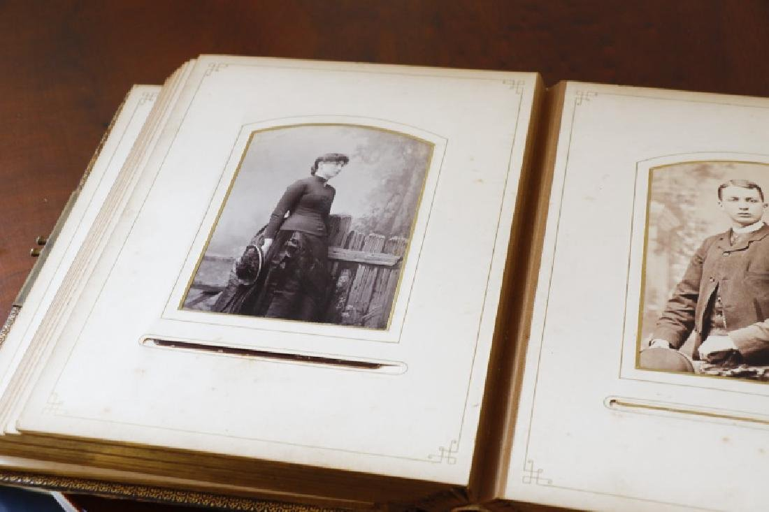 Leather Album of Early Photographs, 20+ Images