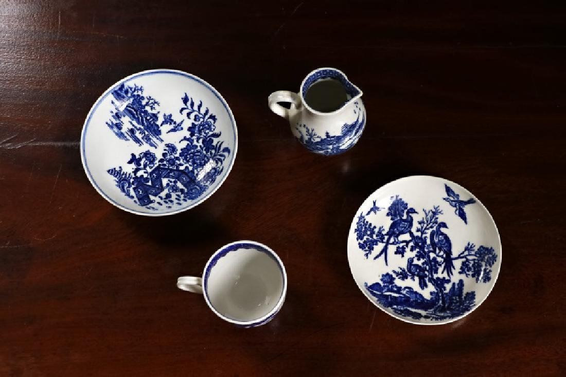 Group, 18th C. English Blue & White Porcelain