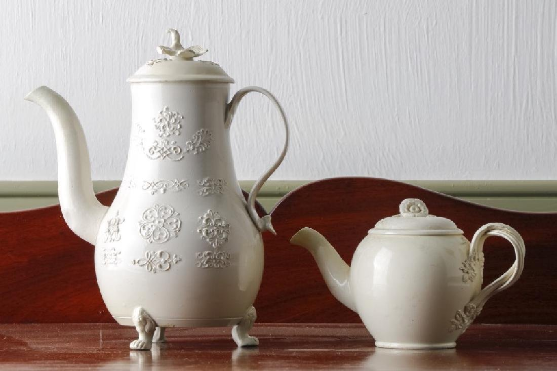 Two Salt Glazed English Teapots, 18th/19th C.