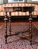 Victorian Walnut Hall or Center Table Late 19th C
