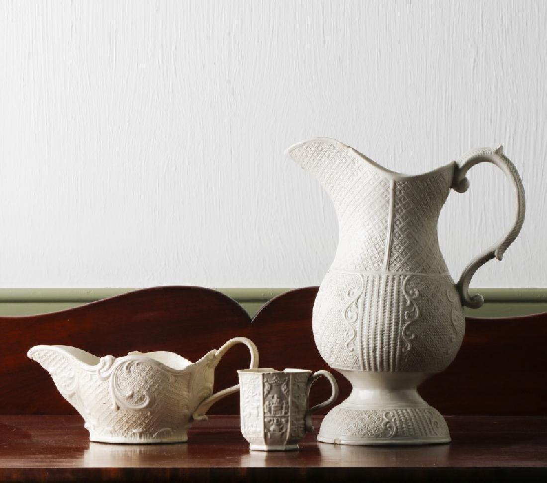 Group, English Salt Glazed Porcelain