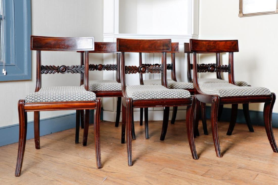 Set of 6 Regency Style Mahogany Side Chairs