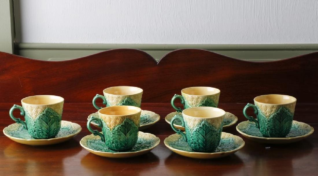 Wedgwood Majolica Demitasse Cups & Saucers