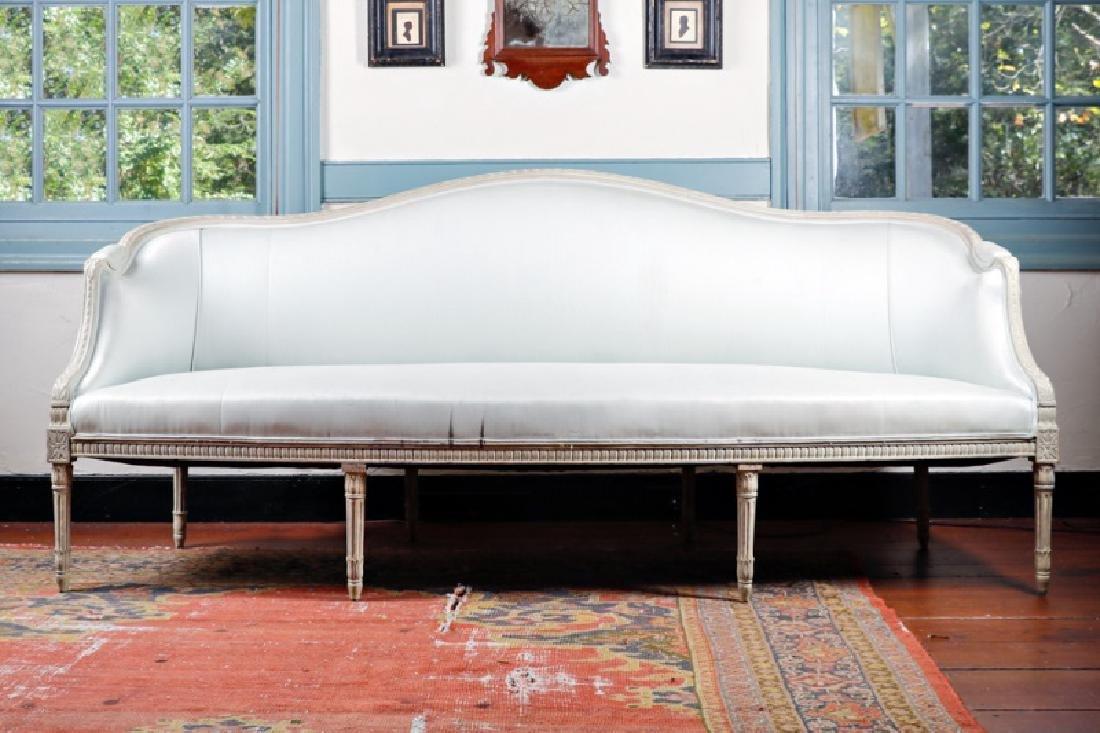 Louis XVI style Parcel Gilt Decorated Canape