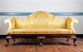 George III Style Camel Back Sofa, 19th C.